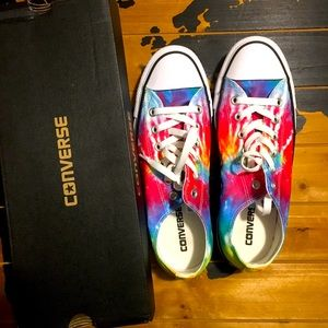 New in Box Tie Dye Converse